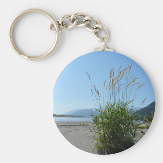 Grassy along the River Basic Round Button Keychain
