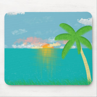 Grassy Bluff View Mouse Pad