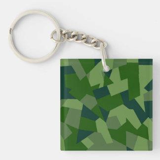 Grassy Camo Single-Sided Square Acrylic Keychain