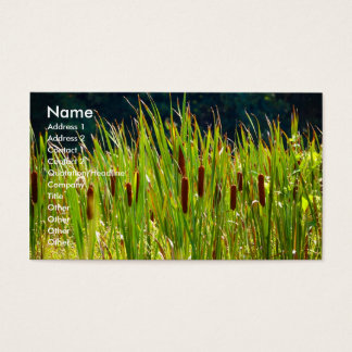 Grassy Field - business card template
