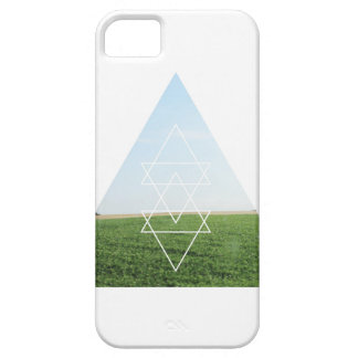 Grassy Field Photography Modern Triangle Landscape iPhone SE/5/5s Case