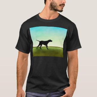 Grassy Field Pointer Dog T-Shirt