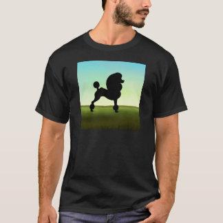 Grassy Field Standard Poodle T-Shirt