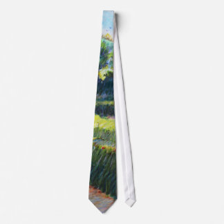 Grassy field with trees tie