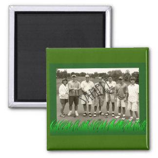 Grassy Golf Frame Refrigerator Magnet
