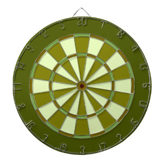 Grassy Green Dartboard With Darts