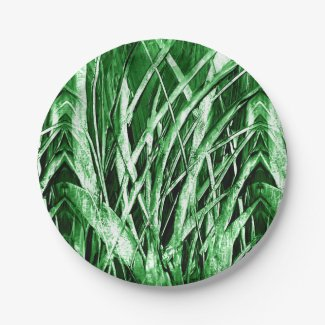 Grassy Green Paper Plates