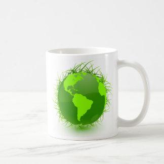 GRASSY GREEN PLANET COFFEE MUG