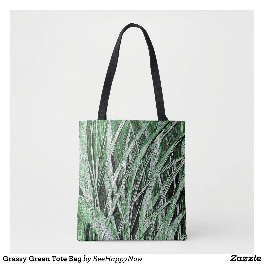 Grassy Green Tote Bag