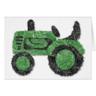 Grassy green tractor card