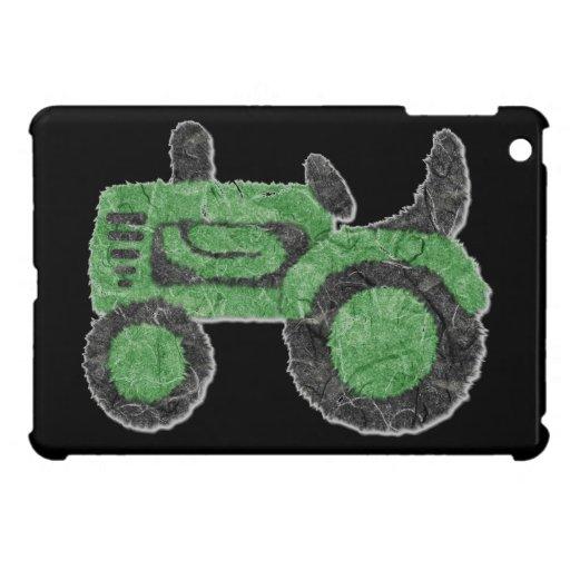 Grassy green tractor iPad mini case