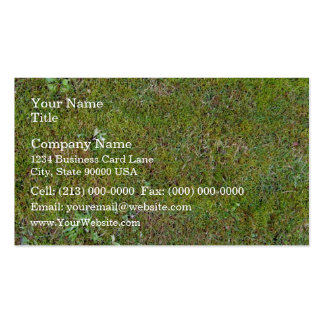 Grassy Ground Background Texture Business Card Templates