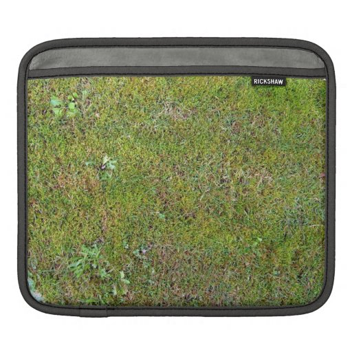 Grassy Ground Background Texture Sleeve For iPads