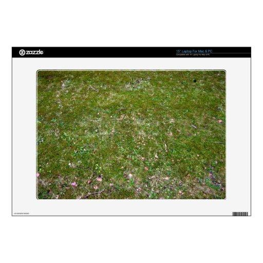 """Grassy ground texture 15"""" laptop skins"""