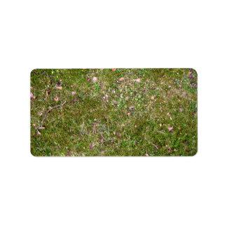 Grassy ground texture label