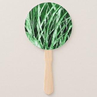 Grassy Hand Fan