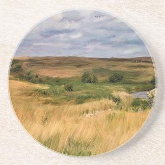 Grassy Hills Prairie Drink Coaster