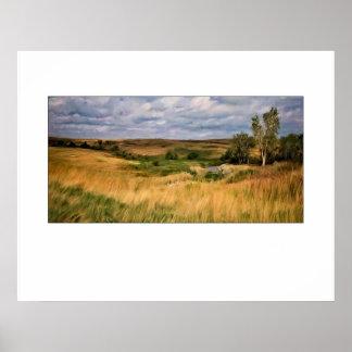 Grassy Hills Prairie Poster