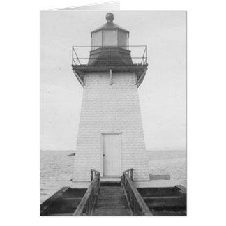 Grassy Island Range Lighthouse Greeting Card