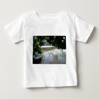 Grassy Lake with Tree Branch Baby T-Shirt