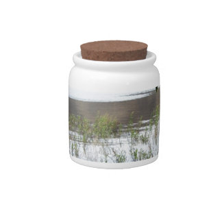 Grassy Lake with Tree Branch Candy Dish