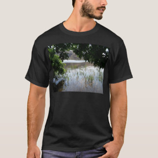 Grassy Lake with Tree Branch T-Shirt