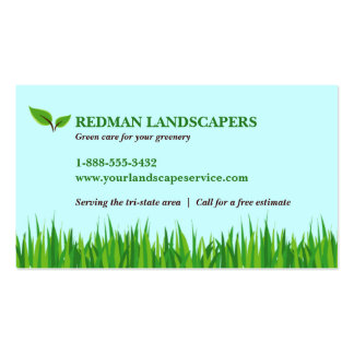 Grassy Landscape Business Card Template