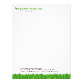 Grassy Landscape letterhead
