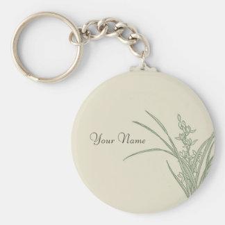 Grassy Landscape Sketch Keychain