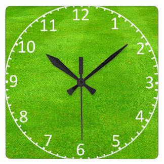 Grassy Lawn Background Clock