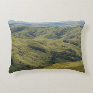 Grassy Pastures above Pacific, Cambria California Accent Pillow
