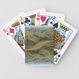 Grassy Pastures above Pacific, Cambria California Bicycle Playing Cards