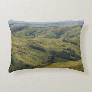 Grassy Pastures above Pacific, Cambria California Decorative Pillow