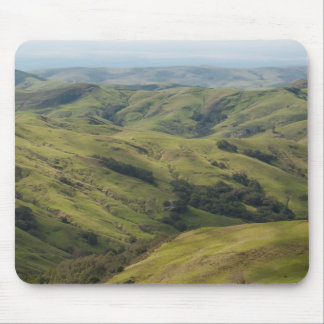 Grassy Pastures above Pacific, Cambria California Mouse Pad