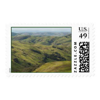 Grassy Pastures above Pacific, Cambria California Postage Stamps