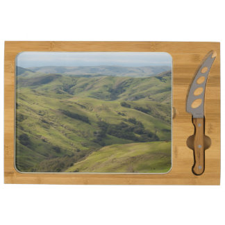 Grassy Pastures above Pacific, Cambria California Rectangular Cheeseboard