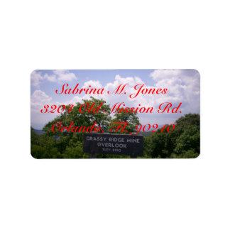Grassy Ridge Mine Overlook Sign Elevation 5250 Label