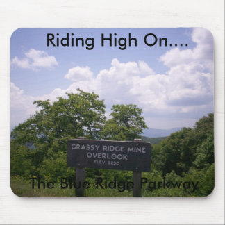 Grassy Ridge Mine Overlook Sign Elevation 5250 Mouse Pad