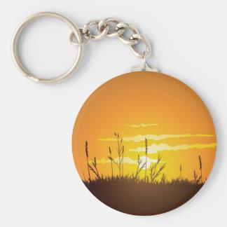 Grassy Sunrise - Keychain