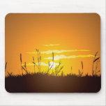 Grassy Sunrise - Mousepad