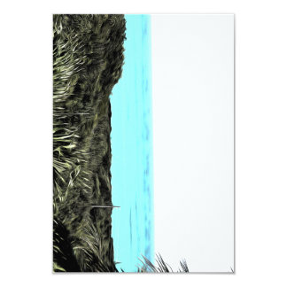Grassy terrain leading to the water 3.5x5 paper invitation card