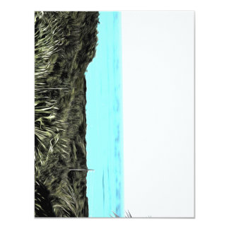 Grassy terrain leading to the water 4.25x5.5 paper invitation card