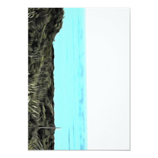 Grassy terrain leading to the water 5x7 paper invitation card