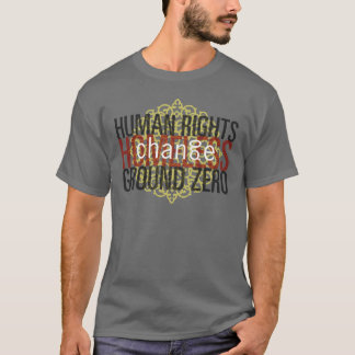 GRATE acid green, HUMAN RIGHTS GROUND ZERO 70%,... T-Shirt