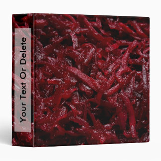 Grated red beets | 3 ring binder