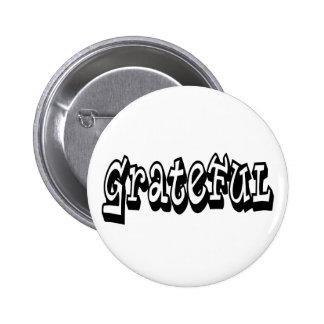 Grateful 2 Inch Round Button