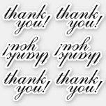 "[ Thumbnail: Grateful, Appreciative ""Thank You!"" Stickers ]"