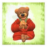 Grateful Buddha Bear 5.25x5.25 Square Paper Invitation Card