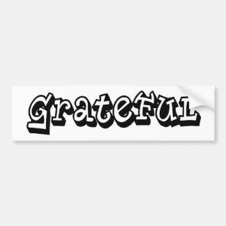 Grateful Car Bumper Sticker