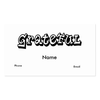 Grateful Double-Sided Standard Business Cards (Pack Of 100)